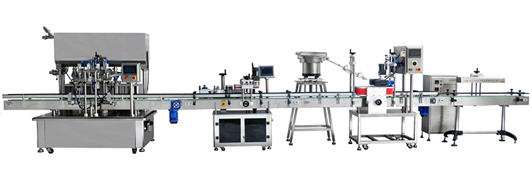 Automatic Inline Chuck Capping Machine with Elevator Type Waterfall Cap Sorter