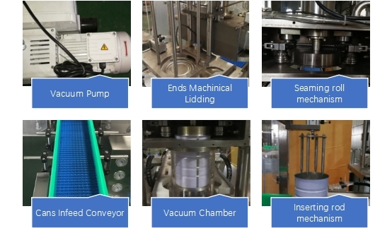 Intermittent Motion Round Shaped Can Vacuum Seamer
