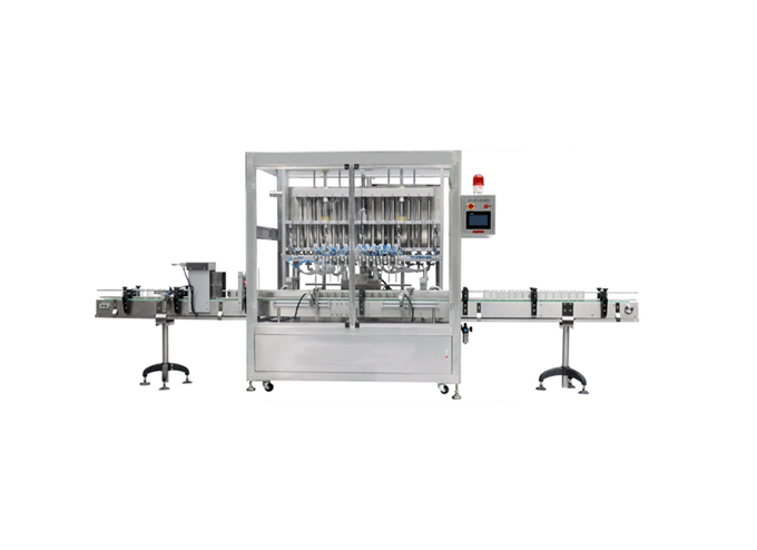 12 Heads Linear Type Piston Filling Machine