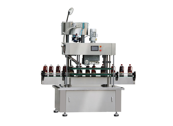 Automatic Inline Snap Capping Machine with Vibratory Bowl Cap Sorter