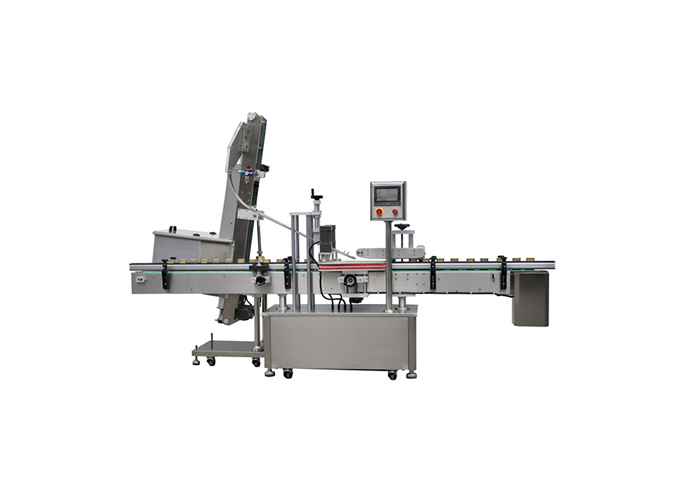 Automatic Inline Snap Capping Machine with Elevator Type Waterfall Cap Sorter