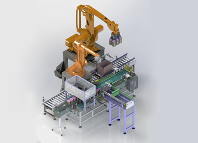 Top Load Case Packer-Robot Pick and Place