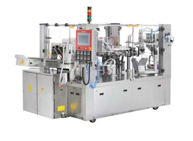 Automatic Rotary Type Premade Pouch Filling  Sealing machine