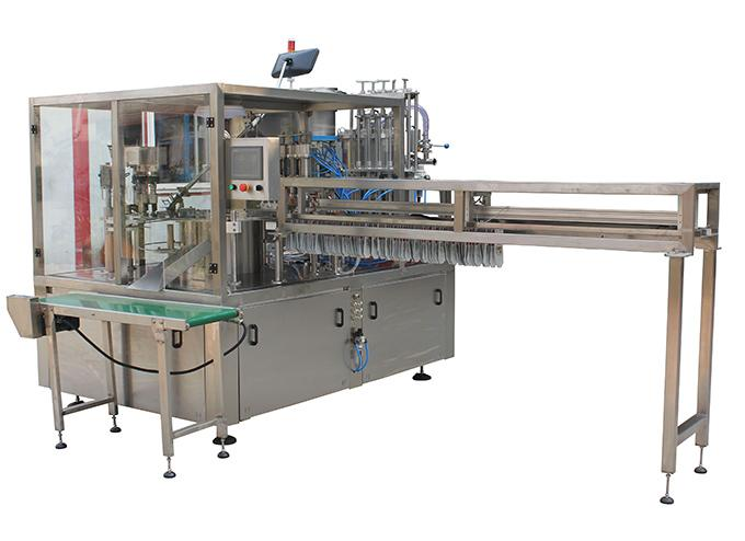 Rotary Premade Spouted Pouch Fill Cap Machine