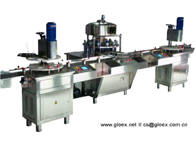 Continuous Motion Round Shaped Can Vacuum Seamer
